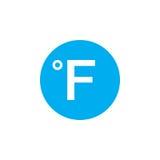 Degree sign, Fahrenheit icon isolated on white background. Vector illustration Stock Image