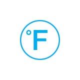 Degree sign, Fahrenheit icon isolated on white background. Vector illustration. Royalty Free Stock Photo