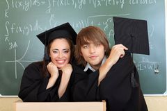 Degree students Royalty Free Stock Photo