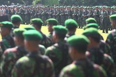 Degree of troops before asean para games Stock Photography