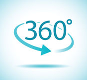 360 degree turn. A 360 degree turn icon Royalty Free Stock Images