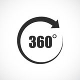 360 degree vector icon. Illustration Royalty Free Stock Photo