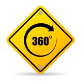 360 degree vector sign. Isolated on white background Stock Image