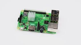 360-degree view of a Raspberry Pi single board computer stock video