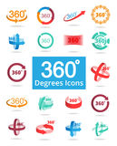 360 Degree View Related Vector Icons. For Your Design Royalty Free Stock Photos