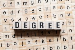Degree word concept stock image