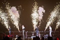 98 Degrees Concert in Montreal Stock Images