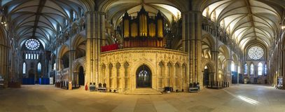 180 Degrees of Lincoln Cathedral Royalty Free Stock Images