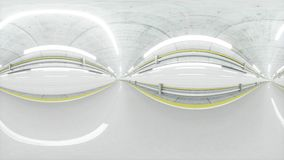 360 degrees panorama. auto tunnel, fast driving. 3d rendering. Stock Photos