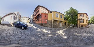 360 degrees panorama of House-museum Nedkovich in Plovdiv, Bulga Royalty Free Stock Photography