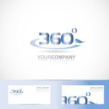 360 degrees text number. Vector logo template of 360 degrees text number Stock Photography
