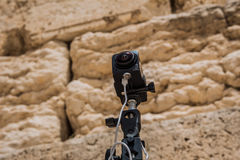 360 degrees video cameras system in filmed production at the Wes. Tern Wall in the old city of Jerusalem Israel Royalty Free Stock Photography