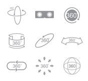 360 degrees view sign icon Royalty Free Stock Images