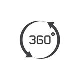 360 degrees view sign. vector icon, solid logo illustration, pic Stock Images