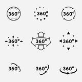 360 degrees view sign. Vector illustration, simple icon design Royalty Free Stock Image