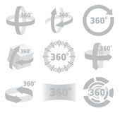 360 degrees view sign  Royalty Free Stock Images