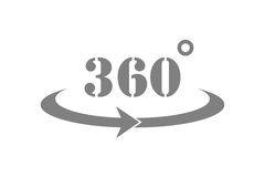 360 Degrees View Vector Icon Royalty Free Stock Photos