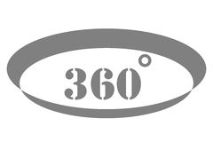 360 Degrees View Vector Icon Stock Images