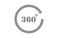 360 Degrees View Vector Icon Royalty Free Stock Photography