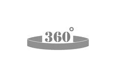 360 Degrees View Vector Icon Royalty Free Stock Images