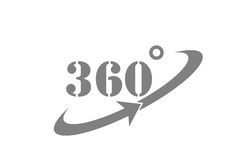 360 Degrees View Vector Icon Royalty Free Stock Photo
