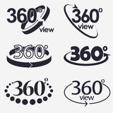 360 Degrees View Vector Icon Stock Photos