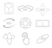 360 Degrees View Vector Icon. On white background Royalty Free Stock Image