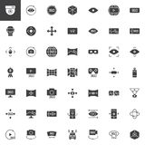 360 degrees view vector icons set. Modern solid symbol collection, filled style pictogram pack. Signs, logo illustration. Set includes icons as Cctv camera Royalty Free Stock Photos