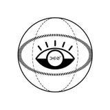 360 degress标志 库存例证