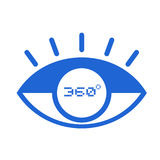 360 degress标志 向量例证