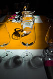 Degustação de vinhos, adega Donnafugata, Marsala, Sicília, Itlay, o 28 de maio Foto de Stock