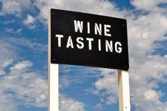 degustaci szyldowy wino Obrazy Stock