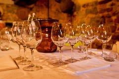 degustaci TARGET2473_1_ stołowy wino Obraz Royalty Free