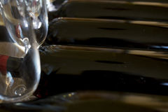 Degustation of red wine in cellar Stock Photo