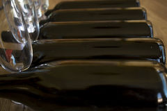 Degustation of red wine in cellar Stock Images