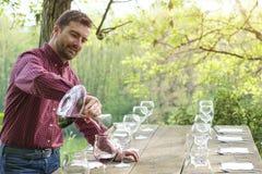 Degustatore del vino e vetri di vino Fotografie Stock Libere da Diritti