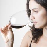 Degustazione del vino rosso fotografie stock libere da diritti