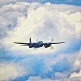 DeHavilland-Moskitokampfflugzeug lizenzfreies stockbild