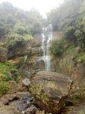 Dehena Ella of Sri lanka. This image is Dehena waterfall of Srilanka. It is located in between Rathnapura Wewalwatta road. The waterfall can see like this in dry royalty free stock images
