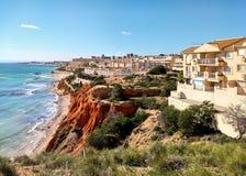 Dehesa de Campoamor岩石海岸  西班牙 免版税库存图片