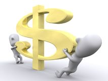 Dehnen Sie Ihr Geld aus Stockbild