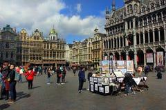 Dehors au vieux centre à Bruxelles, la Belgique photographie stock libre de droits