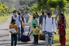 Migrant people returning to their home