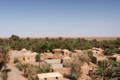 Dehseyf: χωριό οάσεων στην έρημο Lut, Ιράν Στοκ φωτογραφία με δικαίωμα ελεύθερης χρήσης