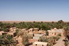 Dehseyf: vila dos oásis no deserto de Lut, Irã Imagem de Stock
