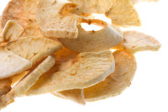 Dehydrated Apple Slices Isolated Royalty Free Stock Images