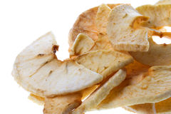 Dehydrated Apple Slices Isolated Stock Photos