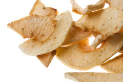 Dehydrated Apple Slices Isolated Stock Image