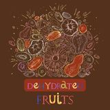 Dehydrated fruit pattern stock illustration