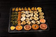 Dehydrated fruits royalty free stock photos